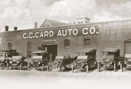 historic photo cc card auto company